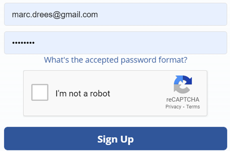 Wachtwoord en reCAPTCHA UX issues