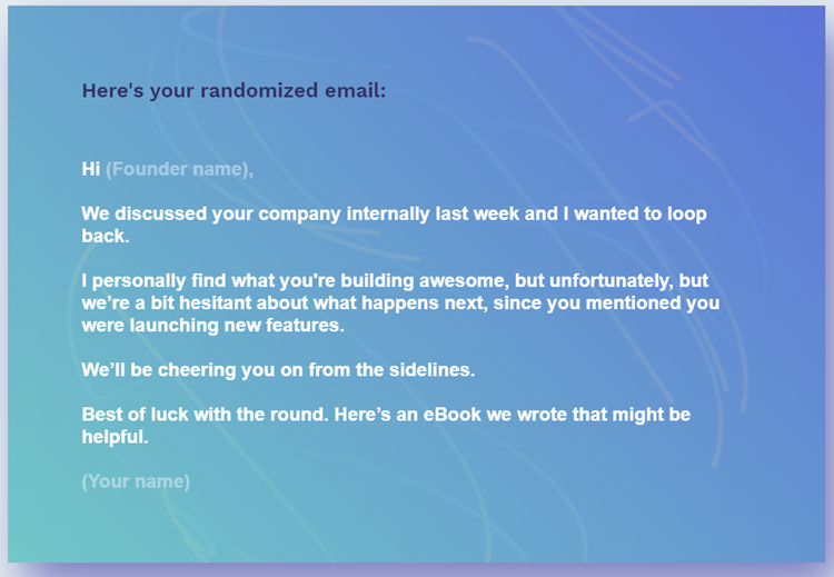 Unfortunately - rejection e-mail - 3