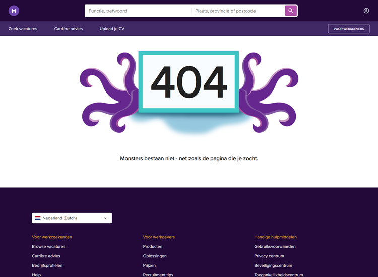 Monster, 404-page